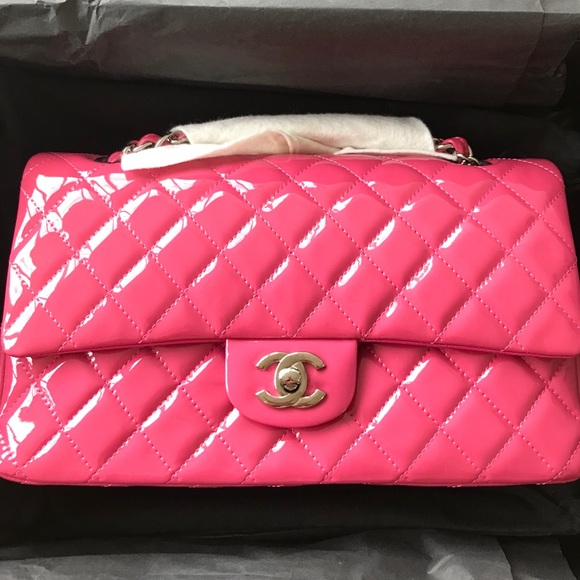 bfe7ebf0fe7c CHANEL Bags | Pink Patent Leather Double C Classic | Poshmark